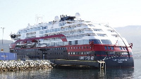 The MS Roald Amundsen is owned by the Norwegian firm Hurtigruten