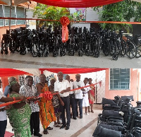 Ga Dangme Shifimo Kpee presented 37 wheelchairs to 14 health centres