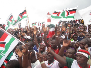 NDC Suppoters At Rally 1