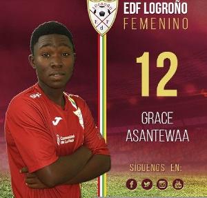 Black Queens midfielder Grace Asantewa