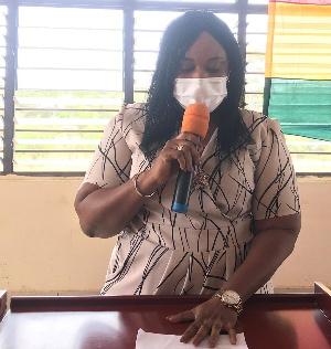 Ms Sarah Dugbakie Pobee, District Chief Executive for Ada East