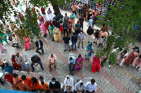 Indian Catholics attend mass during the annual feast