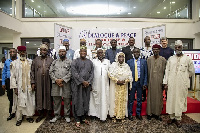 The award receivers, organizers and some religious leaders in a group photo