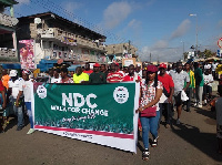 Participants walked through the principal streets of central Takoradi