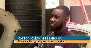 Kofi Annan (Right) taking his turn on GhanaWeb TV's BizTech segment