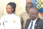 Grace Obour meets Prof. Ebenezer Oduro Owusu (right)