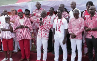 Dr Nduom (middle) flanked by other party executives