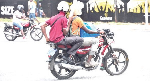 File photo of an Okada rider on the streets
