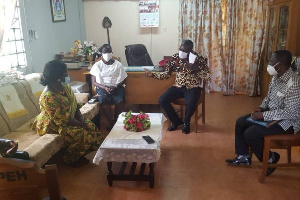 Deputy Western Regional Minister, Eugenia Gifty Kusi toured some schools in the region