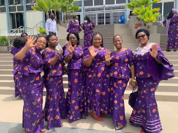 Female MPs in uniform as House debates women's health and development. 57