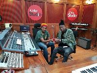 Stonebwoy at the Coke studio, Kenya