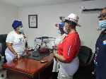 The donations were received in seperate ceremonies by the NPP National Womens Orgaaniser