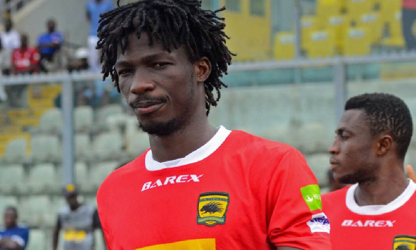 Watch Songne Yacouba\'s penalty miss for Asante Kotoko against Ebusua Dwarfs