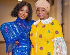 Efya with her mother, Mrs Nana Adwoa Awindor