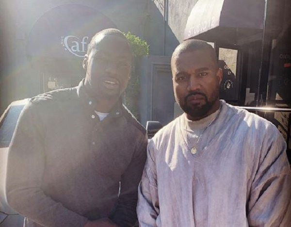 Chris Attoh meets Kanye West at Sunday Service