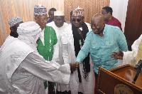 President Nana Addo Dankwa Akufo-Addo with some leaders of Songhai community