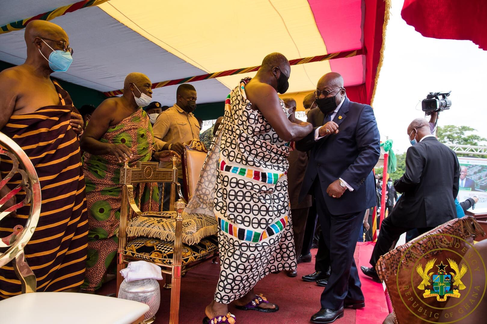 Prez Akuffo Addo Cuts Sod For The Construction Of Residential Facilities For Appeal Court Judges