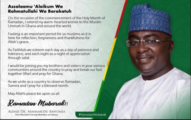 Pray for peace and prosperity of Ghana during Ramadan