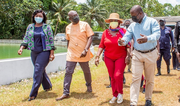 Samuel Jinapor, 2 other ministers inspect Ghana's water resources - GhanaWeb