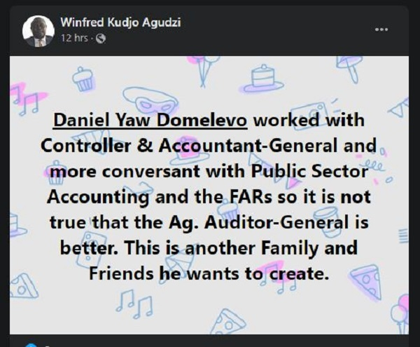 Domelevo under pressure to reply Akufo-Addo as some Ghanaians 'hijack' Facebook page. 67