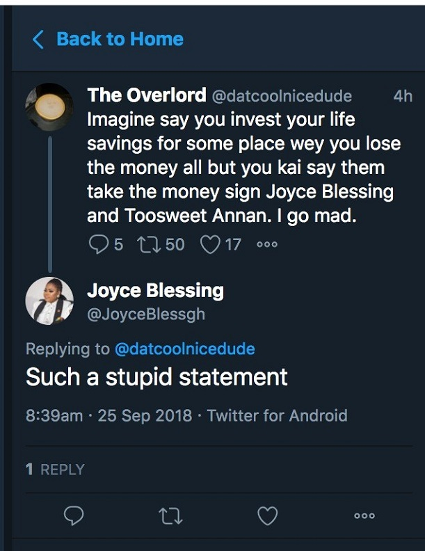Joyce Blessing tears fan into pieces over Menzgold brouhaha