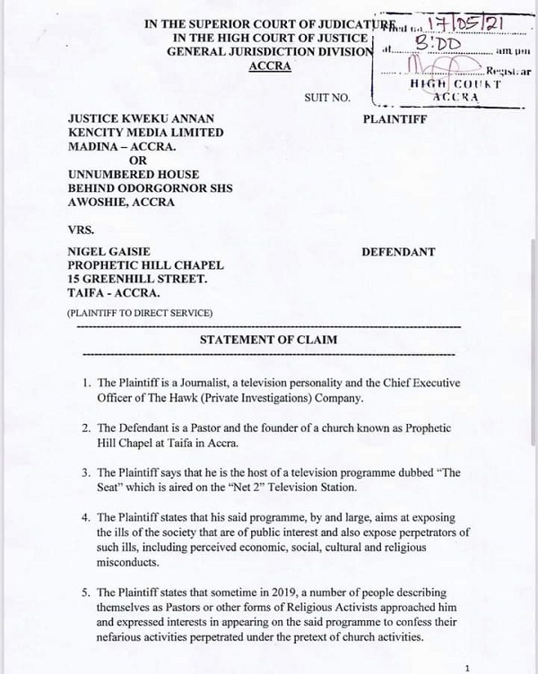 Net2's Kwaku Annan slaps GH¢2.5million defamation suit on Nigel Gaisie. 51