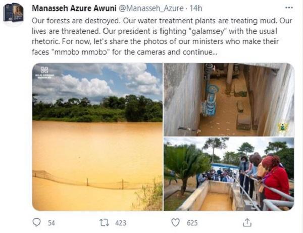 Akufo-Addo fighting galamsey with 'usual rhetoric' – Manasseh Azure. 49