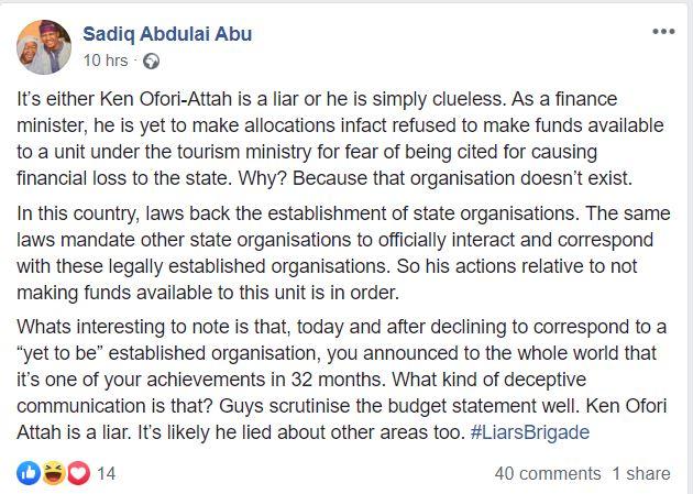 Ken Ofori-Atta either a liar or clueless – 3Music Awards founder fires