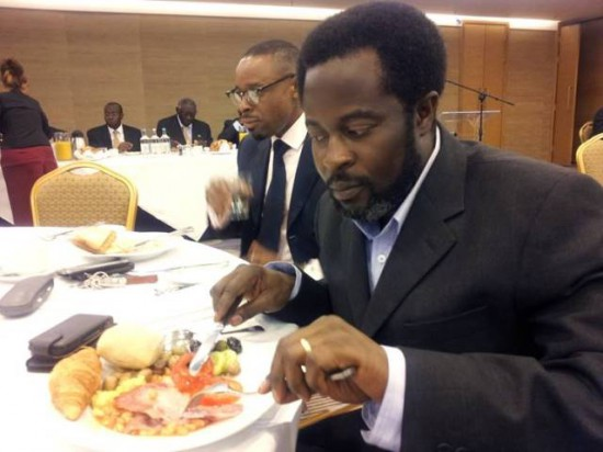 Sammy Ankrah at a dinner with Ex President Kuffour and other NPP executives