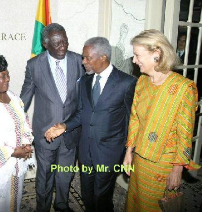 Kufour Hosts Annan's Farewell Reception