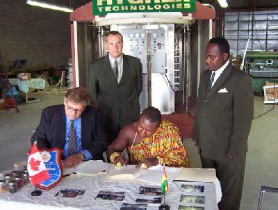 Torgbui Amenya FITI V Sign MOU