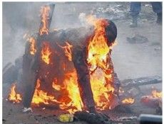 Lynched and set ablaze