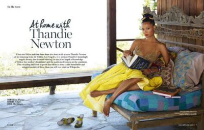 Thandie Newton's hair in African Woman Magazine is everything