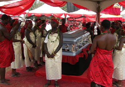 King of Ghana's capital city laid to rest