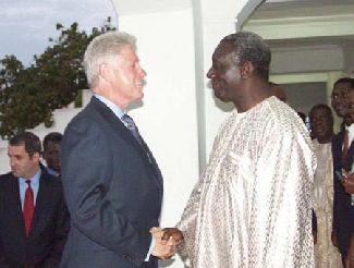 Clinton In Ghana