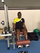 Agyeman Badu works in the gym