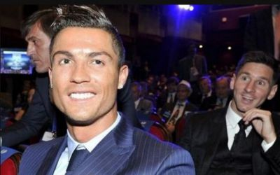 Photos: Messi photobombs Ronaldo in Monaco