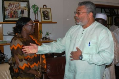 Govt Delegation  meets President  Rawlings
