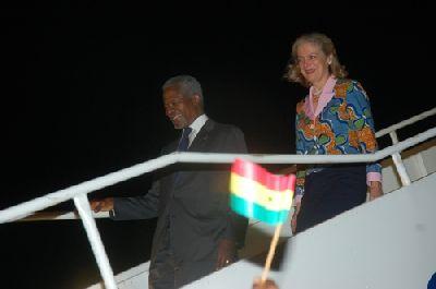 Busumuru Annan arrives back home