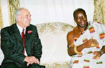 Asantehene's Courtesy Call on the Secretary-General of the C'wealth Secretariat.