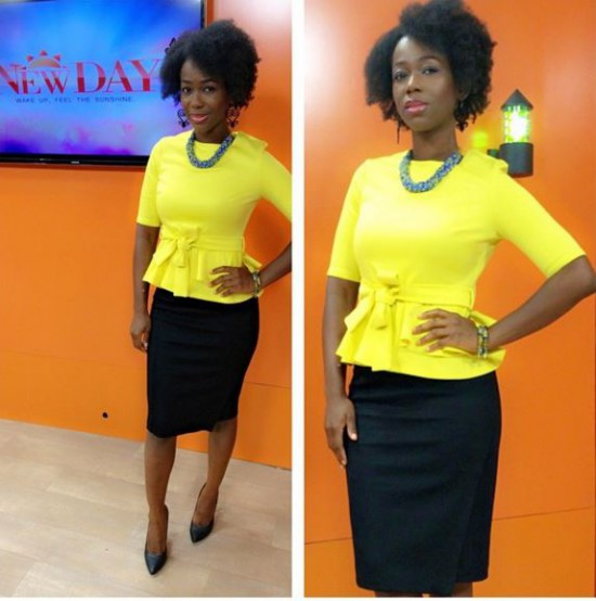 Fall in love with  Ama K Abebrese's natural hair