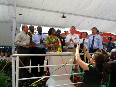 1st lady naming the FPSO