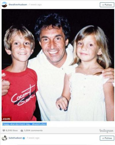 Kate and Oliver Hudson disowned by father