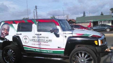 branded campaign vehicle