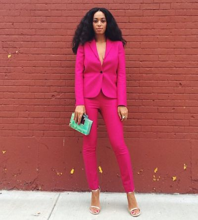 Solange Knowles rainbow of red carpet looks