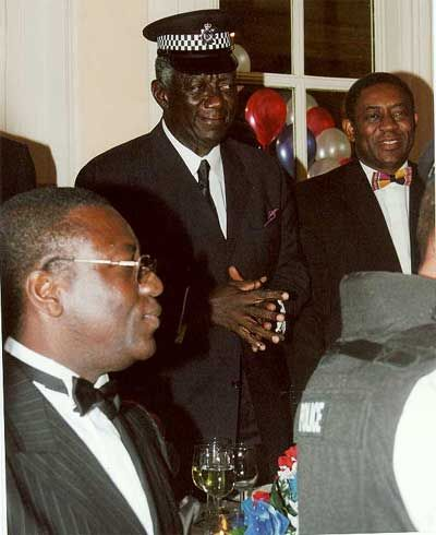 A Police cap for President Kufuor