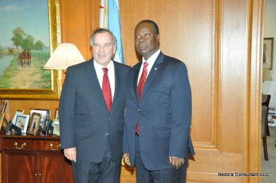 Mayor of Chicago Meets with Gh ambassador: