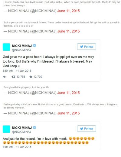Nicki Minaj responds to song ex-boyfriend