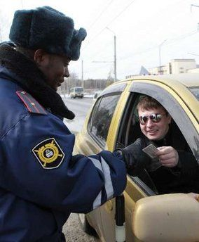 Ghanaian Policeman in Russia