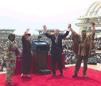 Clinton's historic trip to Ghana
